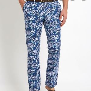 Vinyard Vines Batik Fish Slim Fit Breaker Pant